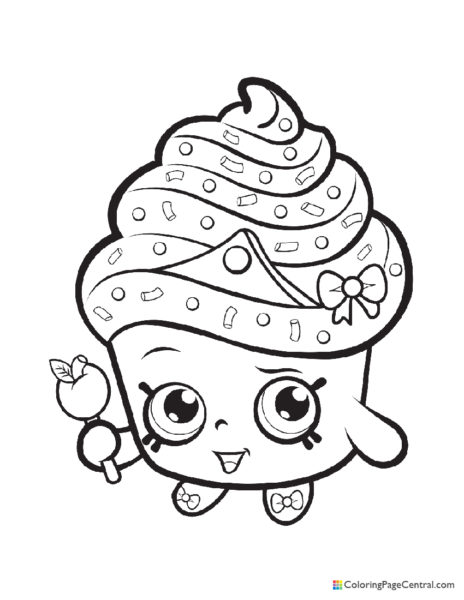 Shopkin – Cupcake Queen Coloring Page