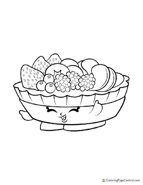 Shopkin - Fifi Fruit Tart Coloring Page