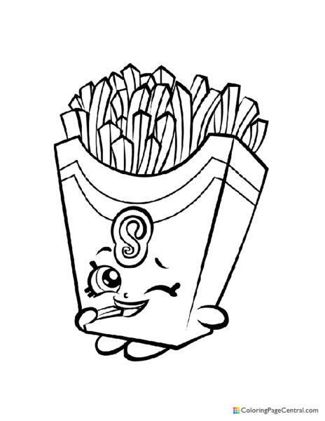 Shopkin - Fiona Fries Coloring Page