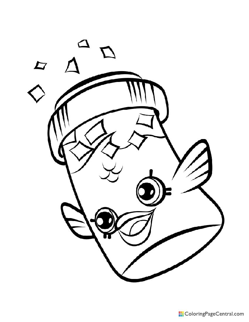 Shopkin - Fish Flake Jake Coloring Page