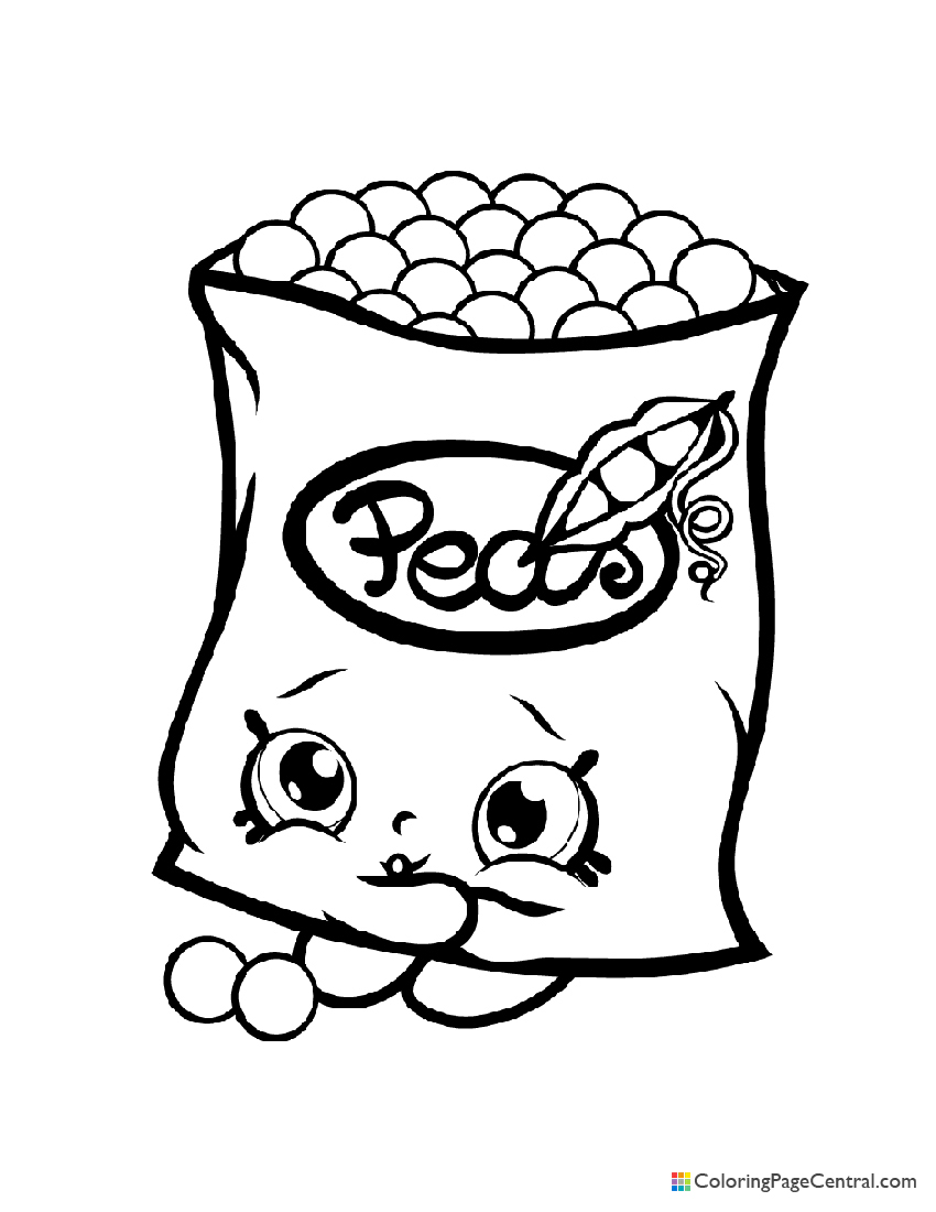 Shopkin - Freezy Peazy Coloring Page