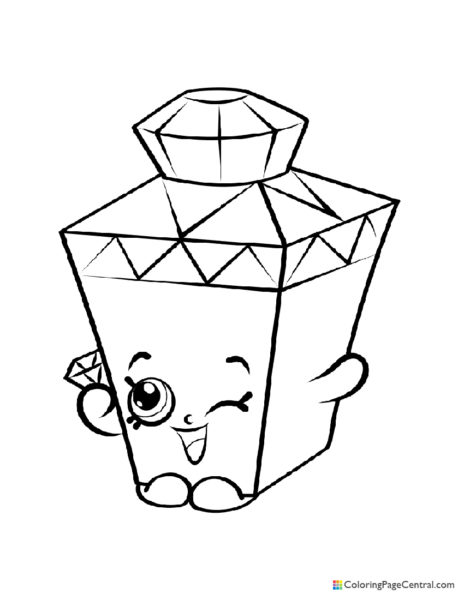 Shopkin - Gemma Bottle Coloring Page