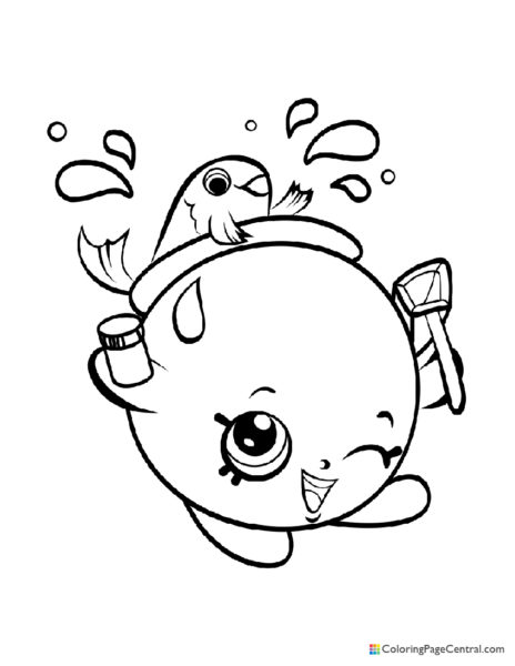 Shopkin – Goldie Fishbowl Coloring Page