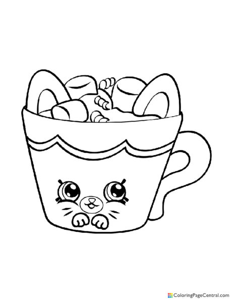 Shopkin – Hot Choc Coloring Page