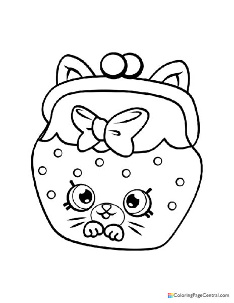 Shopkin – Jingle Purse Coloring Page