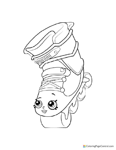 Shopkin – Lola Roller Blade Coloring Page