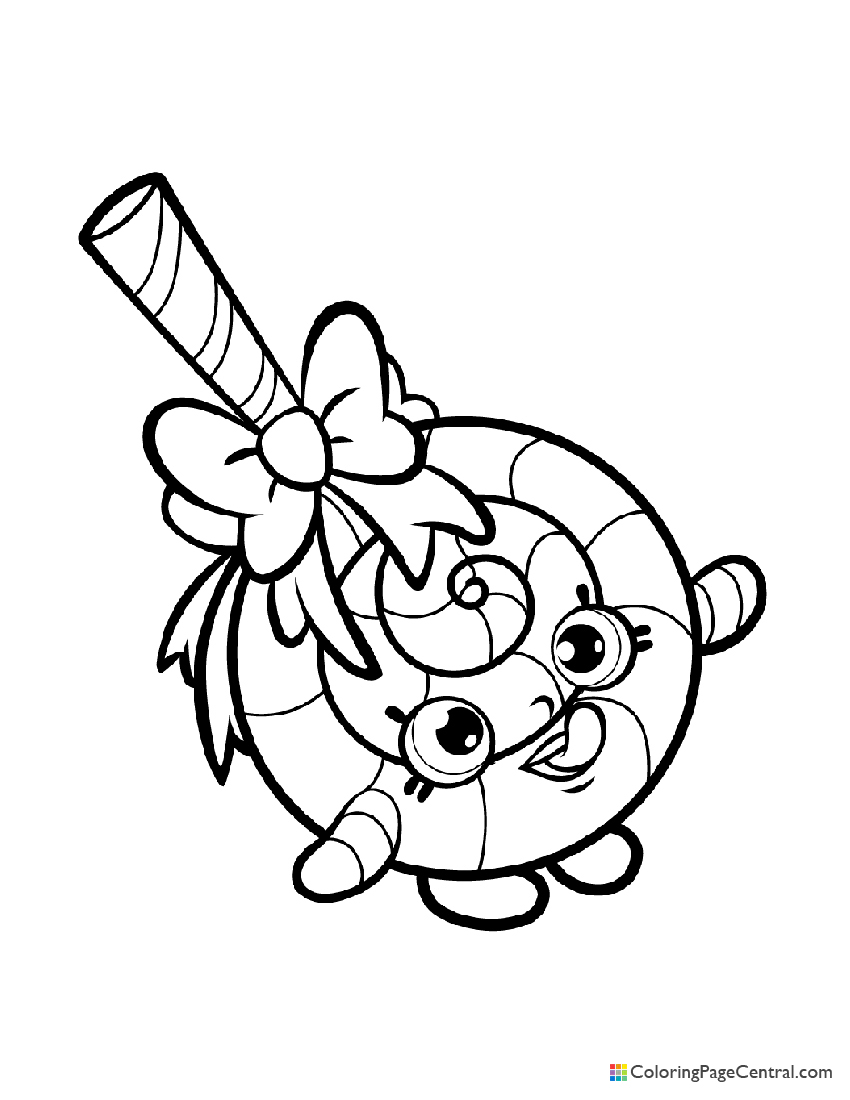 Shopkin - Lolli Poppins Coloring Page | Coloring Page Central