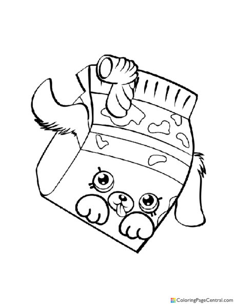 Shopkin – Milk Bud Coloring Page