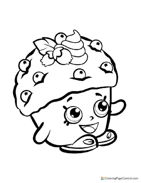 Shopkin - Mini Muffin Coloring Page