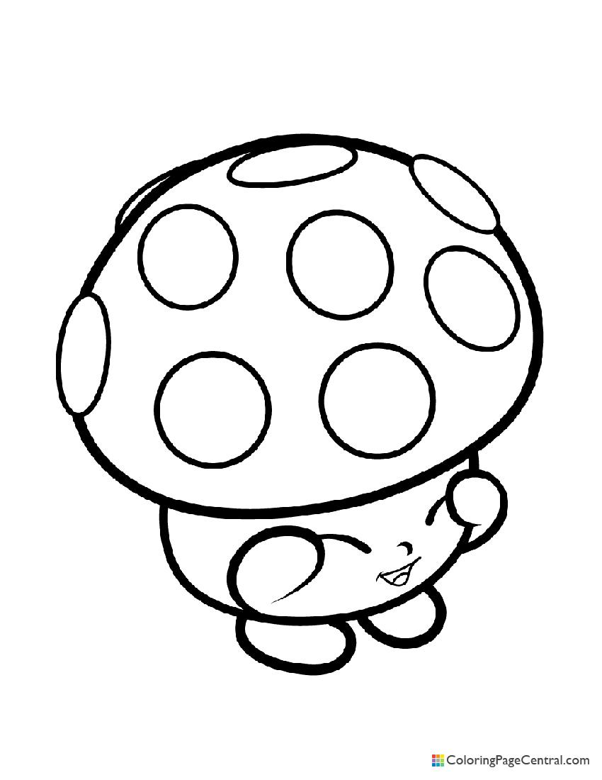 Shopkin - Mushroom Miss Mushy Moo Coloring Page