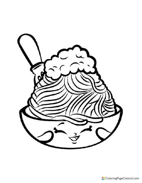 Shopkin – Netti Spaghetti Coloring Page