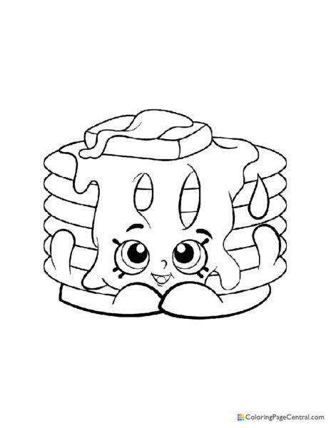 Shopkin - Pamela Pancake Coloring Page
