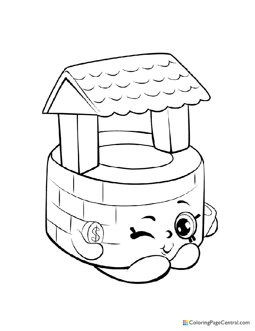 Shopkin - Penny Wishing Well Coloring Page