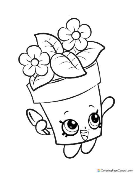 Shopkin - Peta Plant Coloring Page