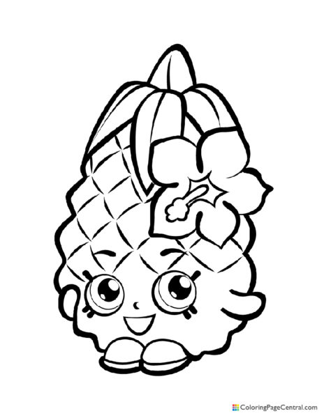 Shopkin - Pineapple Crush Coloring Page