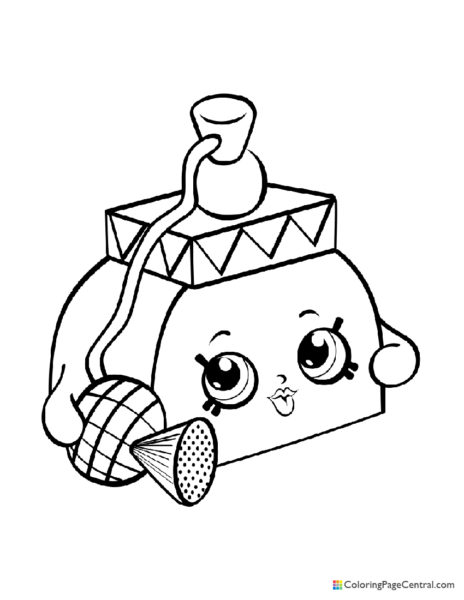 Shopkin – Pretty Puff Coloring Page