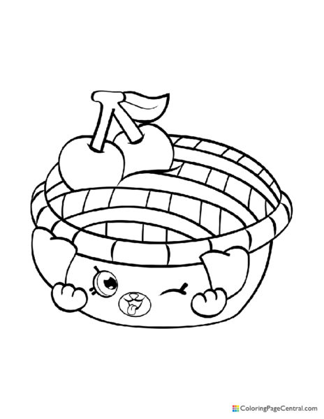 Shopkin – Shy Pie Coloring Page