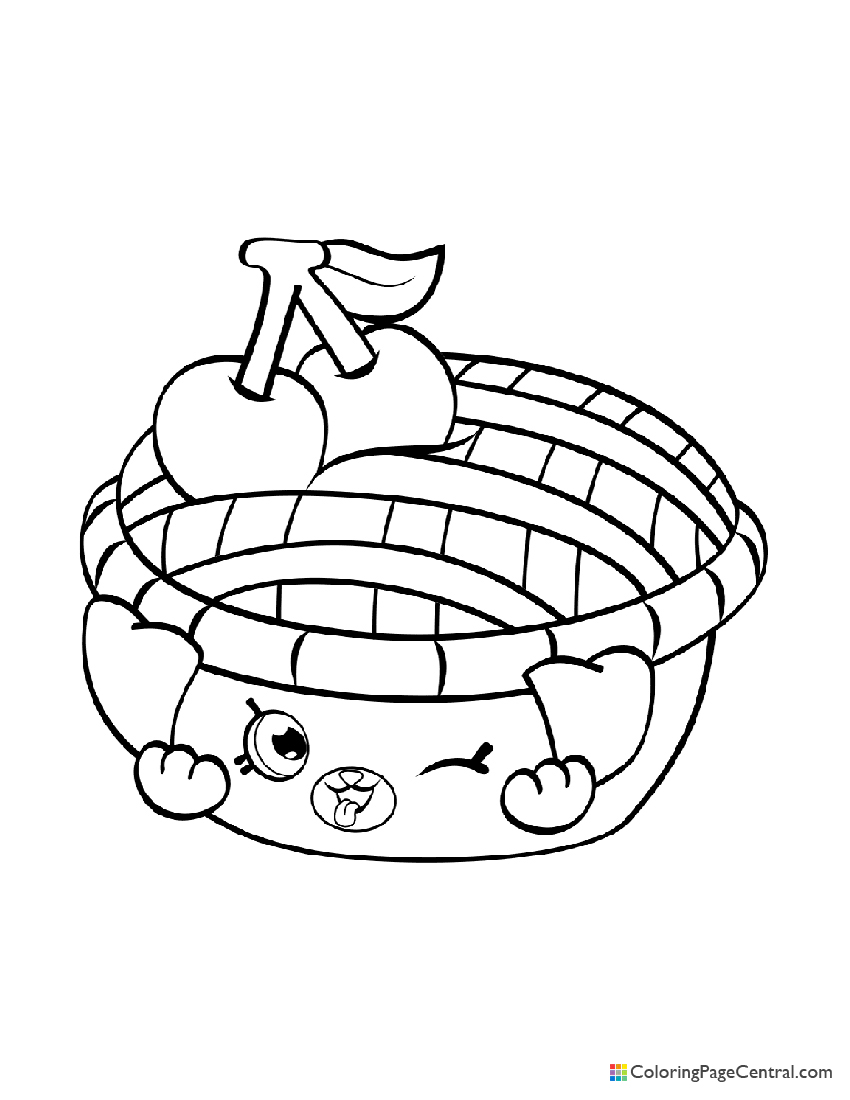 Shopkin - Shy Pie Coloring Page