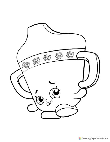Shopkin - Sippy Sips Coloring Page