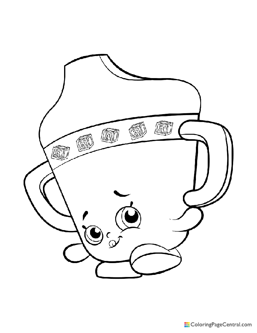 Shopkin - Sippy Sips Coloring Page   Coloring Page Central