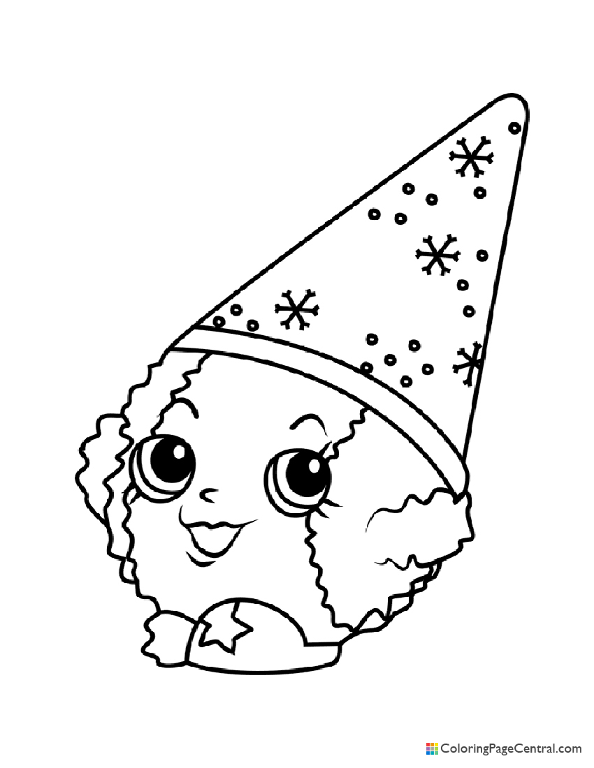 Shopkin - Snow Crush Coloring Page