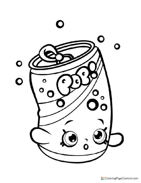Shopkin – Soda Pops Coloring Page
