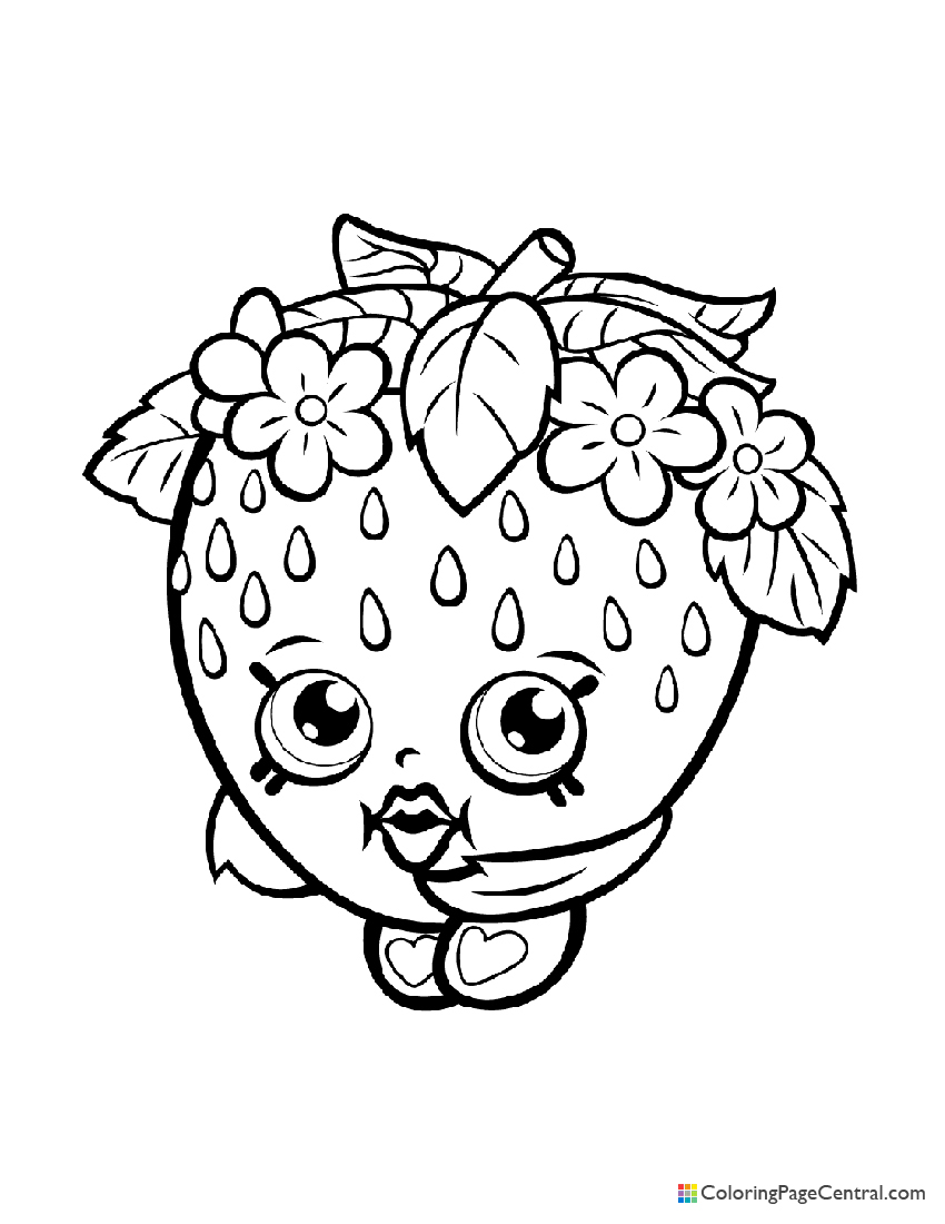 Shopkin - Strawberry Kiss Coloring Page