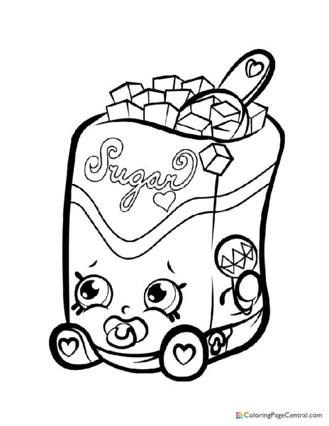 Shopkin – Sugar Lump Coloring Page