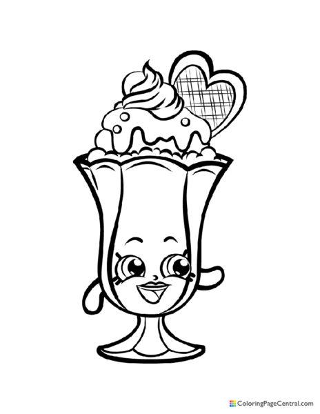 Shopkin – Suzie Sundae Coloring Page