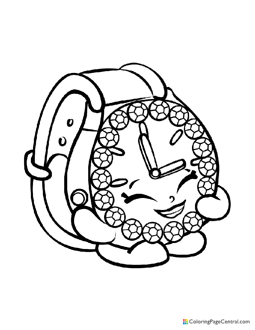 Shopkin - Ticky Tock Coloring Page