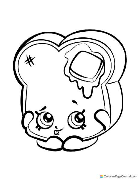Shopkin - Toastie Bread Coloring Page
