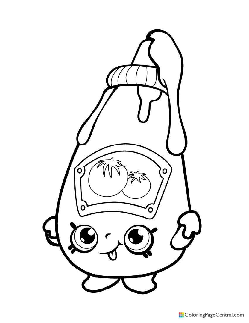 Shopkin - Tommy Ketchup Coloring Page