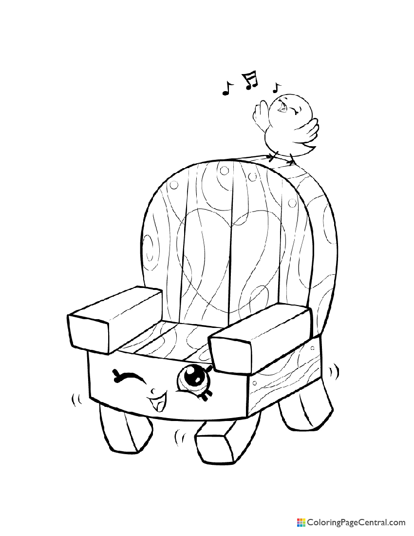 Shopkin - Woody Garden Chair Coloring Page