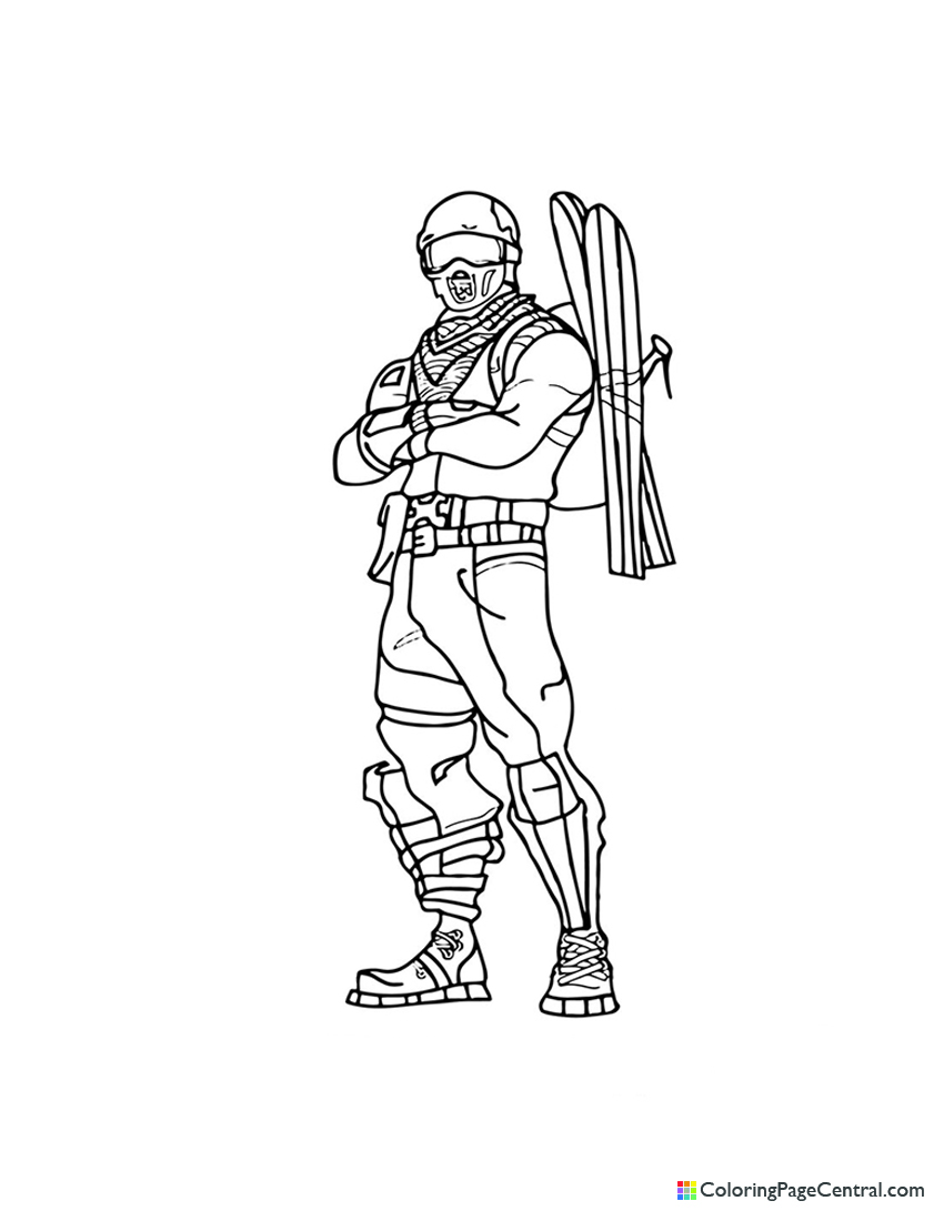 Fortnite - Alpine Ace Coloring Page