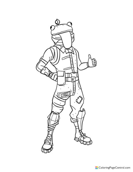 Fortnite – Beef Boss 01 Coloring Page