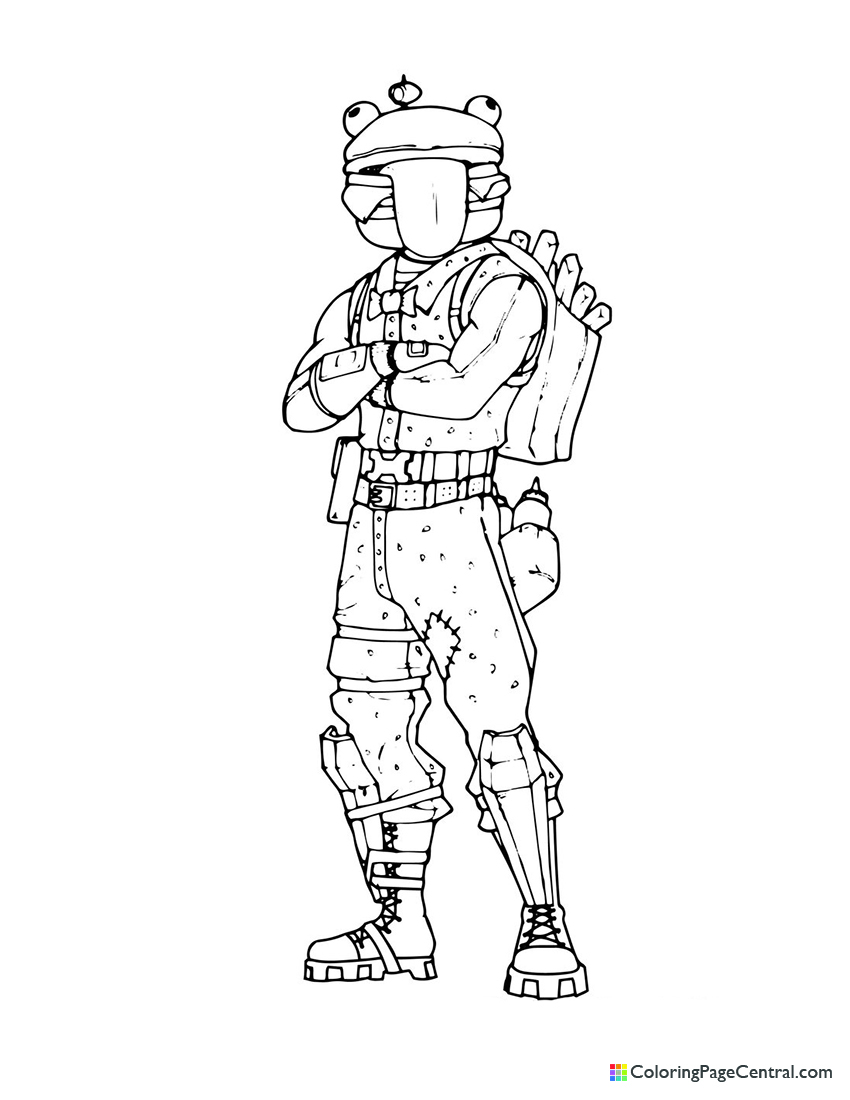 Fortnite - Beef Boss 02 Coloring Page