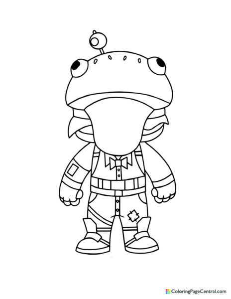 Fortnite – Beef Boss Chibi Coloring Page