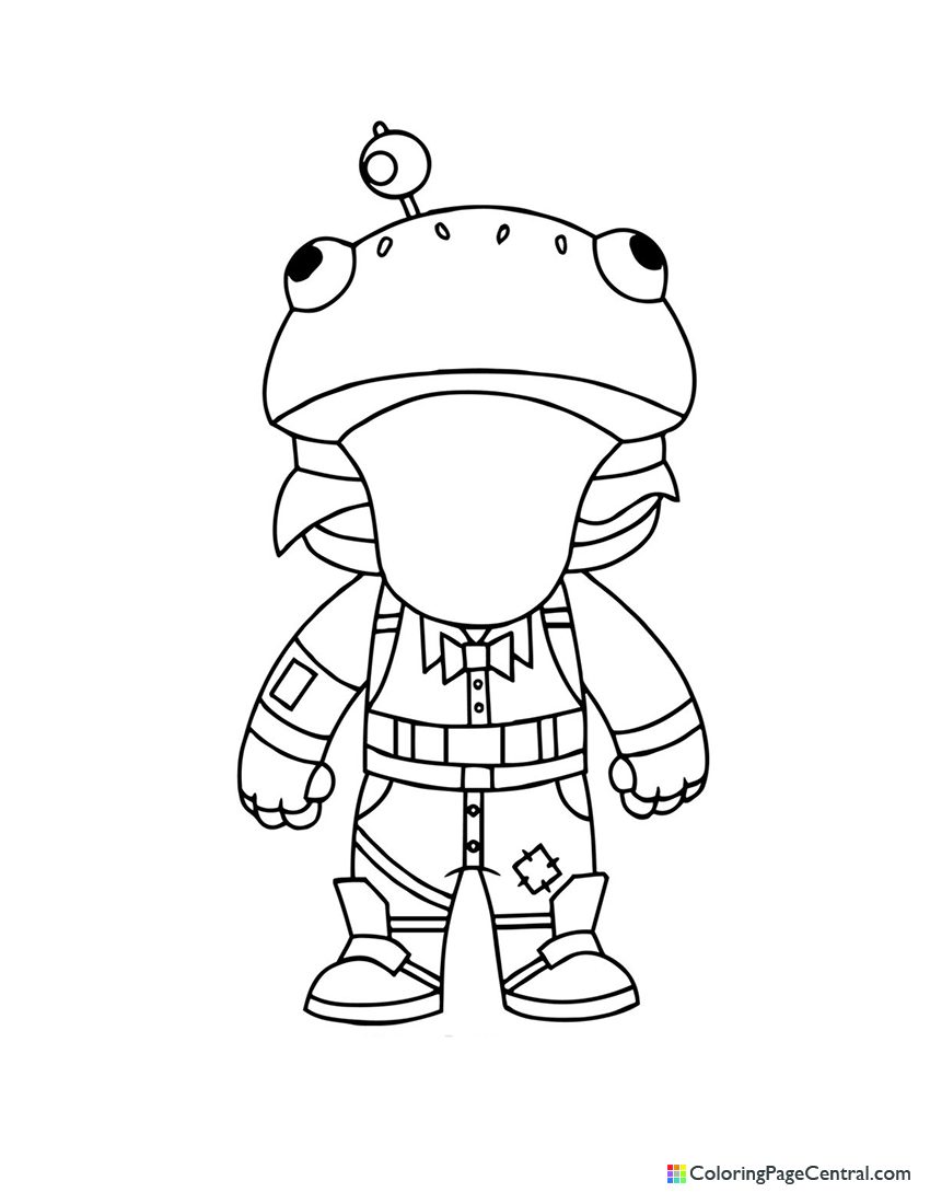 Fortnite - Beef Boss Chibi Coloring Page