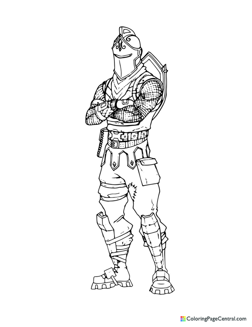 Fortnite - Black Knight 01 Coloring Page