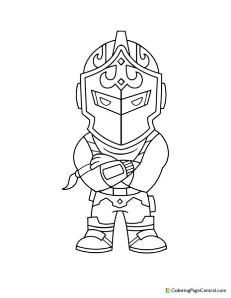 Fortnite – Black Knight Chibi Coloring Page