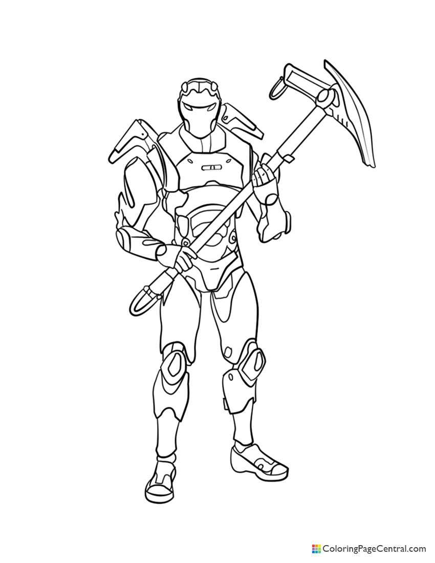 Fortnite - Carbide 01 Coloring Page