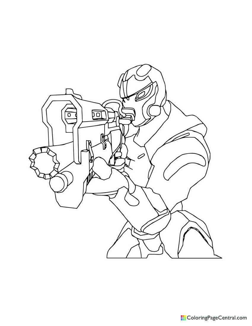 Fortnite - Carbide 02 Coloring Page