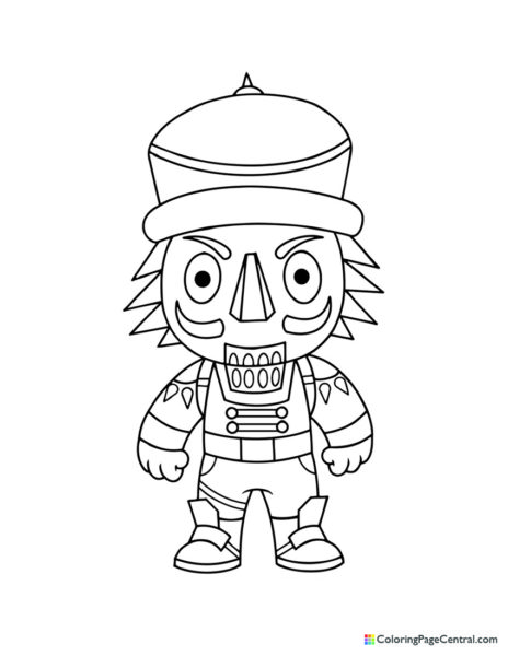Fortnite – Crackshot Chibi Coloring Page
