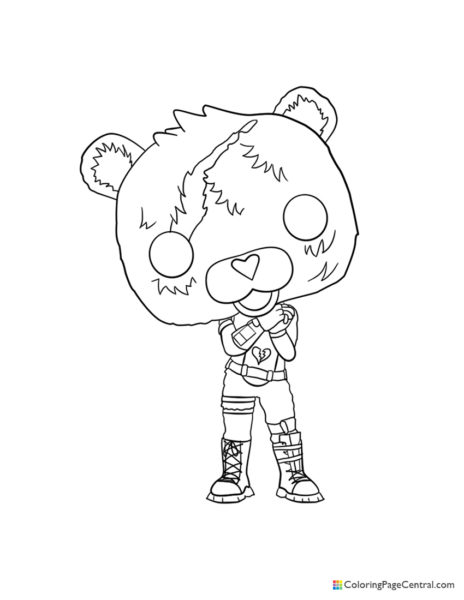 Fortnite – Cuddle Team Leader 02 Coloring Page