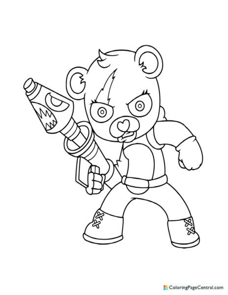 Fortnite – Cuddle Team Leader 03 Coloring Page
