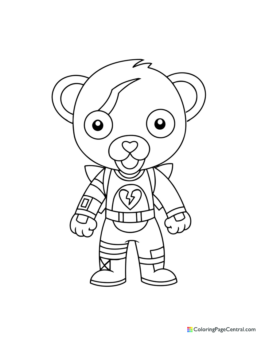 Fortnite - Cuddle Team Leader Chibi Coloring Page