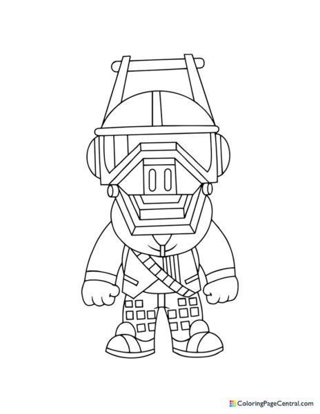Fortnite – DJ Yonder Chibi Coloring Page