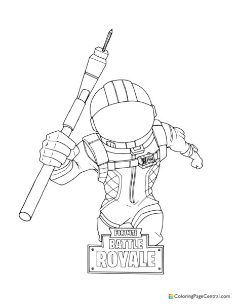 Fortnite - Dark Voyager 01 Coloring Page