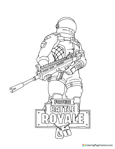 Fortnite – Dark Voyager 02 Coloring Page