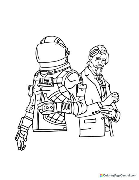 Fortnite – Dark Voyager and The Reaper Coloring Page